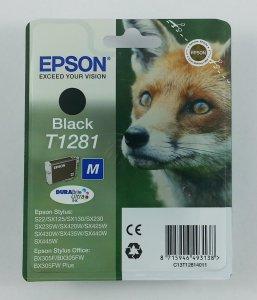 originale Patrone Epson T1281 / schwarz
